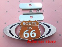 auto rally - Chrome Route D Metal Route Racing Front Hood Grille Badge Racing Rally Embleme Auto accessories