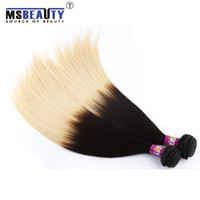 hair dye color - Brazilian Peruvian Malaysian Virgin Human hair AA Grade straight extensions B can be dyed any color Msbeauty hair products