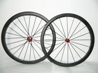 Wholesale carbon road bike wheels wheelset mm bicycle wheels tubular clincher carbon fiber bike wheels Skewers Rim Tapes Brake Pads