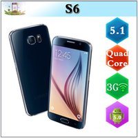 Wholesale S6 G920I Android Lollipop Quad Core MTK6582 GB RAM inch S Note Fake G LTE G WCDMA MP Camera Smart Phone