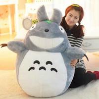 Sourire vidéo Prix-Hot Sale 140CM EMS célèbres Cartoon Totoro Plush Toys Sourire souples Peluches Poupées de haute qualité, sans sourire Livraison gratuite par EMS