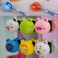 Wholesale 2015 Hot D Cartoon Toothbrush Holder Stand Mount Wall Suction Grip Rack Home Bathroom