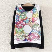 Wholesale http www aliexpress com store product Korean Women Alphabet painted Sweater Loose Long sleeved O neck Casual Sweatshirt Hoodies