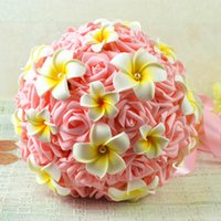 Wholesale High Quality Wedding Bouquet Silk Artificial Bride Hands Holding Flowers Wedding Supplies
