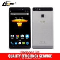 Wholesale Original Elephone M1 G LTE Cell Phone MTK6735A Bit Quad Core Andriod quot GB RAM GB ROM MP Fingerprint ID