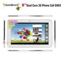 Wholesale Sanei Inch G Phone Call Android dual camera Dual Core A23 G903 Not A33 Capacitive Tablet PC Bluetooth