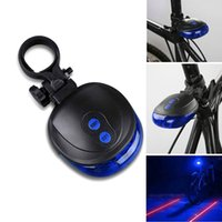 Tail Lights LED 100-300 LM Bicycle Bike Blue Light 7Modes 2 Laser + 5 LED Flashing Rear Cycling Tail Safety Warning Waterproof Lamp BLL_605