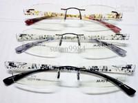 Wholesale new arrival brand eyeglasses TR90 rimless fashion Optical frame design eyewear