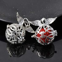 Wholesale 1Pcs silver Box Mexican Angel Openable Ball Charms For Jewelry Handmade X34mm M001