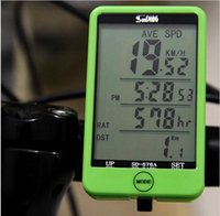 Wholesale Water resistant Multifunction Wireless Cycling Bike Bicycle Computer Speedometer Touch Button LCD Backlight Backlit Bicycle accessores