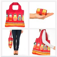 big reusable shopping bags - 20inch Big Size Reusable Shopping Bag Foldable Spring Rolls Polyester package Tote Eco Grab Bag with Handles for Grocery Shopping Giftbags