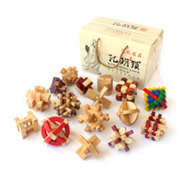 ancient china toys - 16 China ancient educational wooden toys D wood IQ jigsaw brain teaser puzzle for adults puzle games