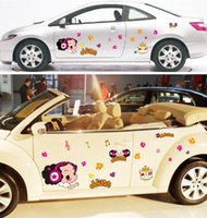 arts doll decorative - Cute Cartoon Doll Style Decorative Car Wall Stickers Car Decal Arts Car Styling Stickers