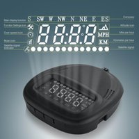Wholesale Overspeed Alarm Compatible Universal GPS HUD A1 Head Up Display Car OBD2 Speedometer KMH MPH with All Vehicle Truck A1