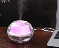 humidifier aroma - 2015 New LED Light Mini Portable Crystal USB Air Ultrasonic Humidifier Fogger Aroma Mist Maker Aromatherapy Essential Oil Diffuser for Home