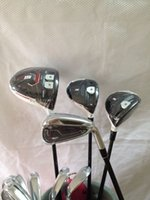 Wholesale 12pcs Complete golf clubs R15 driver R15 fairway woods Rsi1 Rsi1 golf irons PAS free headcover