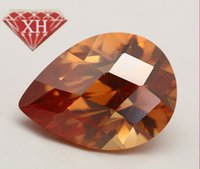 Wholesale brilliant facet pear shape Cubic Zirconia stone x mm AAA cut PS010 synthetic Gemstone loose Beads gems To customize