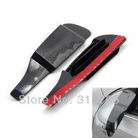 Protéger plastique noir Avis-Bricolage intelligent flexible voiture Plastic Side Rétroviseur Garde ombre de pluie Sun Visor Shade Bouclier noir et transparent Universal