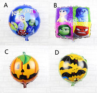 aluminium bats - 18 inch Design Children Inside Out bat pumpkin Halloween balloon new Boy girl Halloween cartoon Inside Out balloon X45CM B001