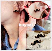 Alta calidad moda bigote gracioso personalizada stud pendientes joyería barata China 100pairA1A
