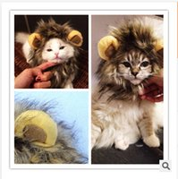 Wholesale New Festival Hallowmas Party Pets Mane Wig For Cat Dog Costume Hat Lion Cats Small Dogs frozenc749