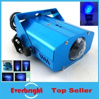 Wholesale Mini water wave laser light Blue Auto Moving Stage Laser Light Projector with tripod DJ party disco light pieces