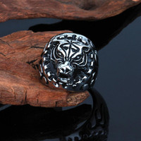 animal jewelery - FC Mixed batch of new jewelery casting titanium steel ring ring sportsman domineering animal tiger ring KL