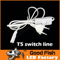 Wholesale T5 LED Power Cable Plugs T5 Line European Standard T5 Power Line With Switch T5 Led Tube Power Plug Power Pro Line