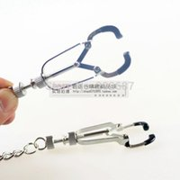 Wholesale Bauhaus Precision Nipple Clips Metal Nipple Clamps With Chain Chrome Sex Toys