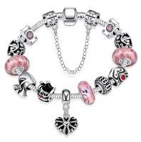 achat en gros de american girl bracelet de charme-10 style pandora charme bracelets européens et américains populaire argent plaqué belles bijoux pour les femmes fille mix order Livraison gratuite