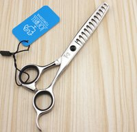 Wholesale hairdressing scissors hair thinning scissors INCH big teeth Silvery hair scissors Simple packing NEW