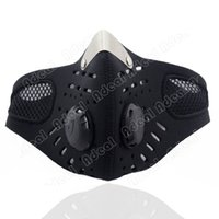 Wholesale Motorcycle Ski Anti pollution Face Mask Outdoor Sports Mouth muffle Dustproof With Filter TK0964