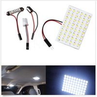 Wholesale 50set T10 BA9S Festoon White LED SMD Panel Interior Dome Map RV Trailer Light new