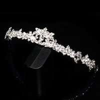 prom hair accessories - In Stock Rhinestone Crystal Wedding Party Prom Homecoming Crown Band Princess Bridal Tiaras Hair Accessories Fashion