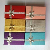 Wholesale Free EMS cm Jewelry Earrings Ring Packaging Box Paper Cardboard Ring Earrings Gift Carry Box