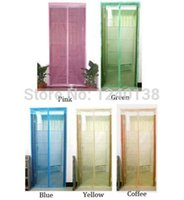 Wholesale 2014 Magic New Mesh Anti Fly Hands Free Magnetic Screen Door Mosquito Net Bar Curtain