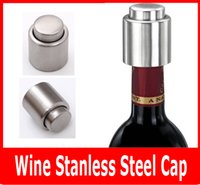 bar stock storage - Red Wine Stainless Steel Cap Vacuum Sealed Wine Storage Bottle Stopper Plug Bottle Cap Pressing Type Stainless Steel