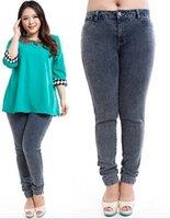 Cheap 2015 new European and American women's XXL cotton elastic waist jeans winter clothing