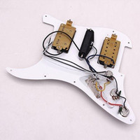 Wholesale IMC Loaded Prewired Electric Guitar Pickguard Pickups Hole HSH White order lt no track