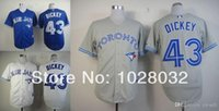 baseball r - 2015 New Cheap Baseball Jersey Toronto Blue Jays R A Dickey Jersey White Blue Gray Authentic Cool Base Jersey Embroidery Logo