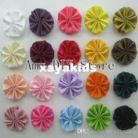 baby garments design - xayakids NEW design handmade satin sew flower garment accessories Boutique flowers for baby girls headband HH