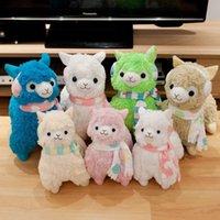 alpaca scarves - 14 quot Arpakasso Alpacasso Alpaca Plush Toys Doll With Scarf Earphone Kawaii Sheep Stuffed Toys Colors