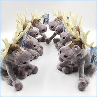 Wholesale 21cm Snow Queen doll SVEN baby doll action figures plush toy Deer piece