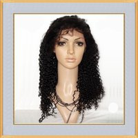 Wholesale Cheap Indian Virgin Human Hair B Color Kinky Curly Full Lace Wigs Lace Front Wigs For Black Women