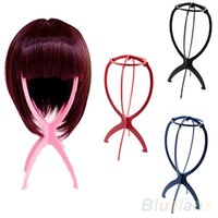Wholesale New Folding Plastic Stable Durable Wig Hair Hat Cap Holder Stand Display Tool A