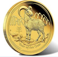 australia crafts - New year of the goat gold replica sheep coin X commemorative coin Australia crafts Christmas gifts