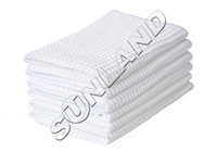 waffle weave kitchen towels - 50PCS x25cm Fast Drying Microfiber Deep Waffle Weave cleaning Towels dish cloths Microfibre Spa Drying Cloths