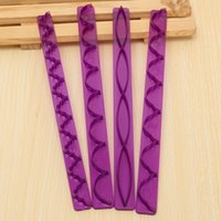 Wholesale 4pcs Modelling Cutter Mold Purple Decorating Tools Cake Margin Frill Ribbon Embosser Sugarcraft