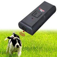 Wholesale High Quality Newest Black Safe Pet Dog Ultrasonic Aggressive Dog Repeller Train Stop Barking Training Device order lt no track