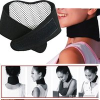 Wholesale Tourmaline Self Heating Magnetic Therapy Neck Wrap Belt Neck Self Heat Brace Neck Support Neck Strap H201050